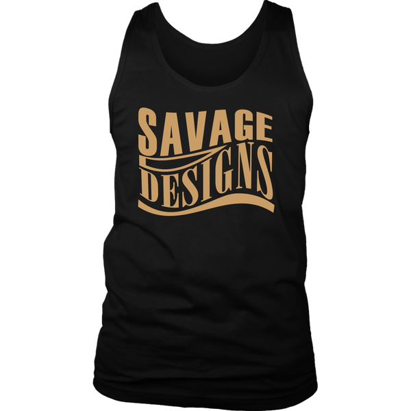 Savage Designs Warped Curve Tan Tank Top- 10 Colors