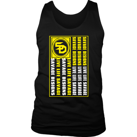 Savage Designs Flag Yellow/White Tank Top- 11 Colors