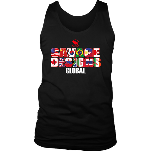 Savage Designs Global Tank Top Text Only