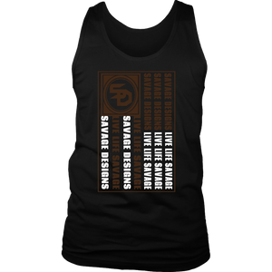 Savage Designs Flag Brown/White Tank Top- 3 Colors
