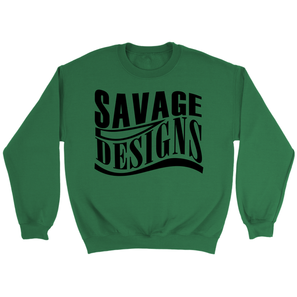 Savage Designs Warped Curve Black Sweatshirt- 8 Colors