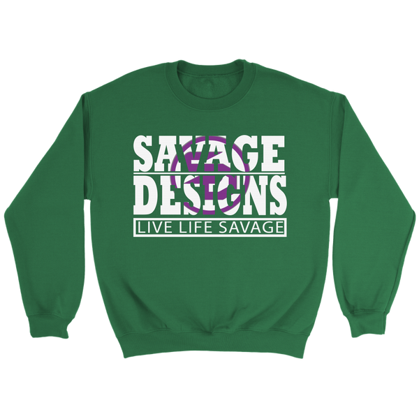 The Savage Within White/Purple Sweatshirt- 7 Colors