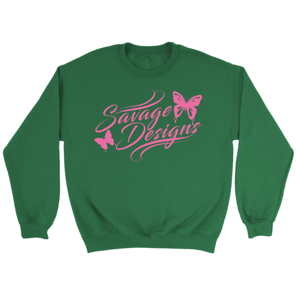 Savage Designs Butterfly Elegance Light Pink Sweatshirt- 8 Colors