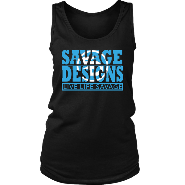 The Savage Within Cyan/White Tank Top- 8 Colors