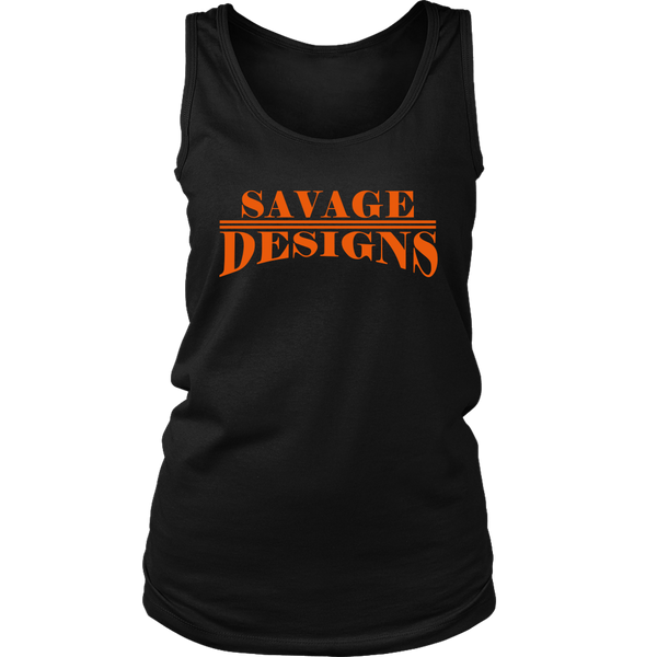 Savage Designs Classic Modern Orange Tank Top- 9 Colors