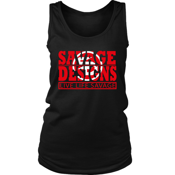 The Savage Within Red/White Tank Top- 5 Colors