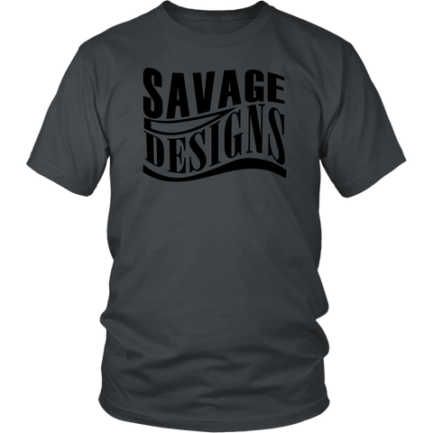 Savage Designs Warped Curve T-shirt Black- 13 Colors