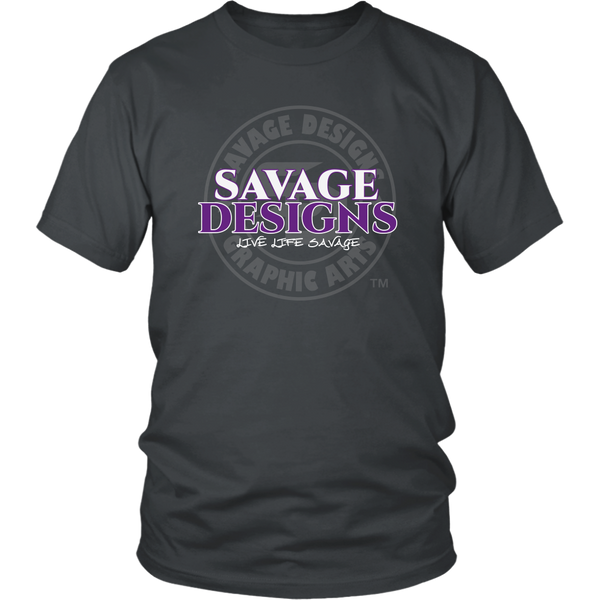 Savage Designs Faded Symbol White/Purple/Grey- 7 Colors