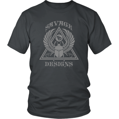 Savage Designs Eygptian Scarab Beetle T-Shirt Grey- 10 Colors