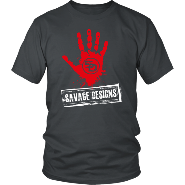 Savage Designs Handprint Stamp Red/White- 9 Colors