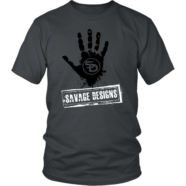 Savage Designs Handprint Stamp Black/White- 11 Colors