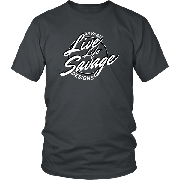 Savage Designs Live Life Savage Calligraphy White/Black- 11 Colors