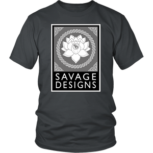 Savage Designs Lotus Flower Grey/White/Black- 11 Colors