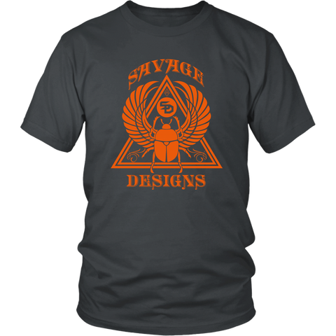 Savage Designs Eygptian Scarab Beetle T-Shirt Orange- 10 Colors