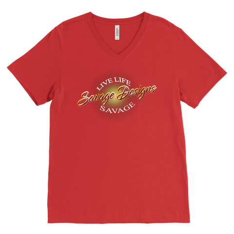 Savage Designs Sunray Flare Maroon and Gold V-Neck- 16 Colors