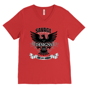 Savage Designs Screeching Falcon V-Neck- 2 Colors