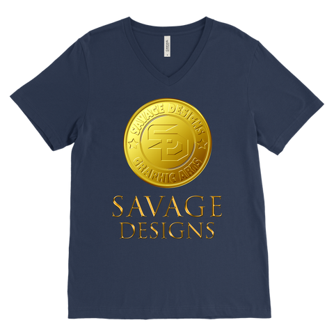 Savage Designs Gold Coin Medallion V-Neck- 15 Colors