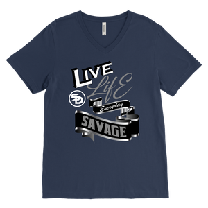 Live Life Everyday Savage White/Black/Grey/Silver V-Neck- 9 Colors