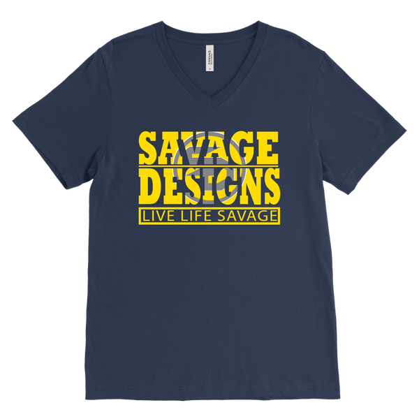 The Savage Within Yellow/Grey V-Neck- 8 Colors