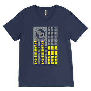 Savage Designs Flag Grey/Yellow V-Neck- 9 Colors