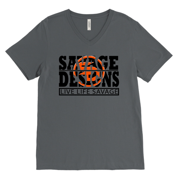 The Savage Within Black/Orange V-Neck- 11 Colors