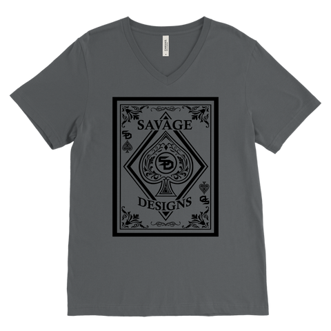 Savage Designs Ace of Spade Black V-Neck- 12 Colors