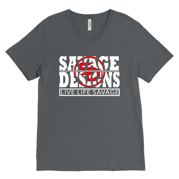 The Savage Within White/Red V-Neck- 10 Colors