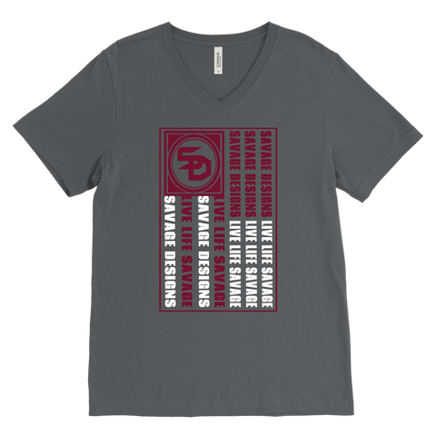 Savage Designs Flag Maroon/White V-Neck- 5 Colors