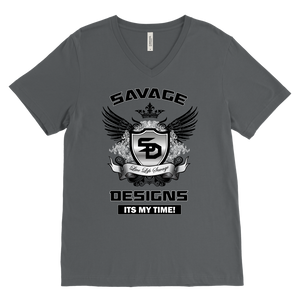 Savage Designs Shield and Wings V-Neck- 3 Colors