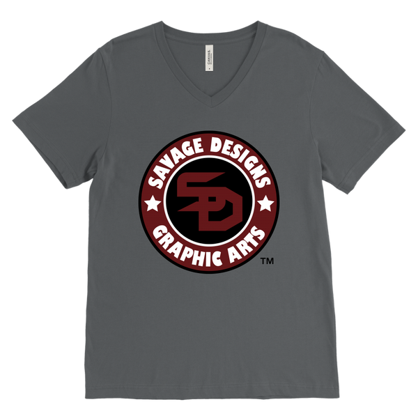 Savage Designs Symbol Patch Burgundy/Black/White V-Neck- 6 Colors
