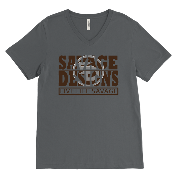 The Savage Within Brown/Grey V-Neck- 2 Colors