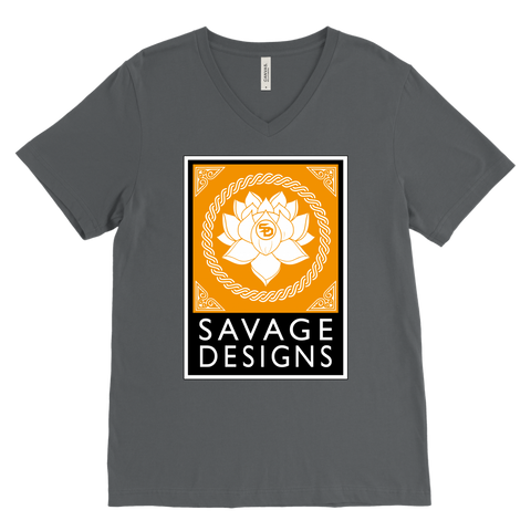 Savage Designs Lotus Flower Gold/White/Black V-Neck- 7 Colors