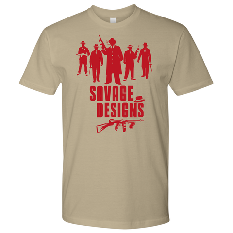 Savage Designs Mob Mafia T-shirt Red- 7 Colors