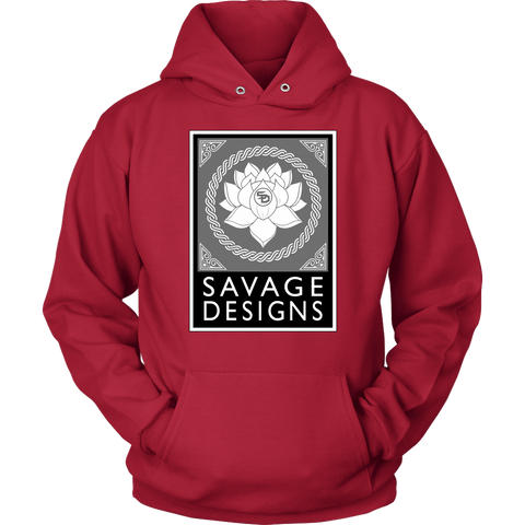 Savage Designs Lotus Flower Grey/White/Black Hoodie- 9 Colors