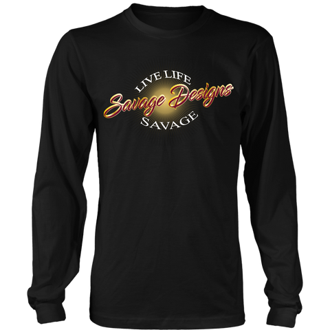 Savage Designs Sunray Flare Maroon and Gold Long Sleeve- 15 Colors