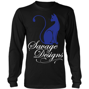 Savage Designs Lady Kitten Royal Blue/White Long Sleeve- 6 Colors