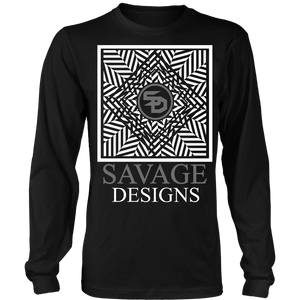 Savage Designs Optical Illusion White/Grey Long Sleeve- 7 Colors