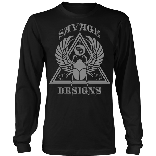 Savage Designs Eygptian Scarab Bettle Grey Long Sleeve- 8 Colors