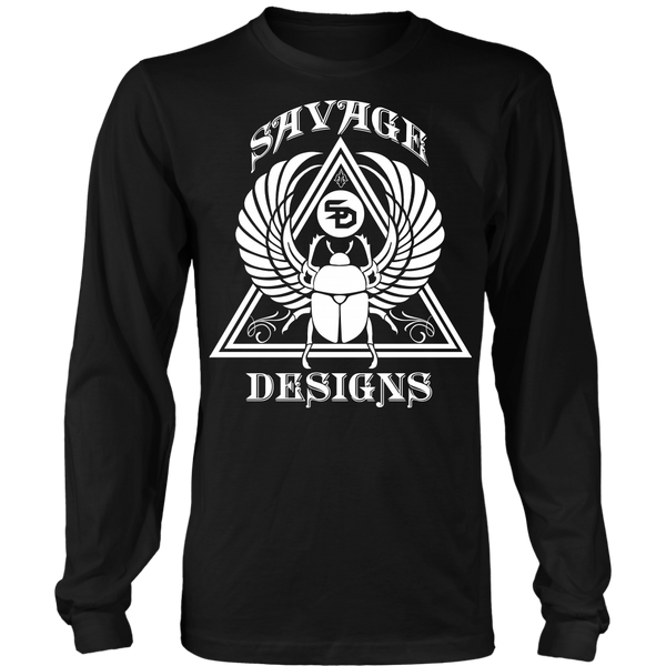 Savage Designs Eygptian Scarab Bettle White Long Sleeve- 11 Colors