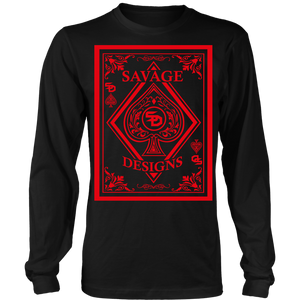 Savage Designs Ace of Spade Red Long Sleeve- 6 Colors