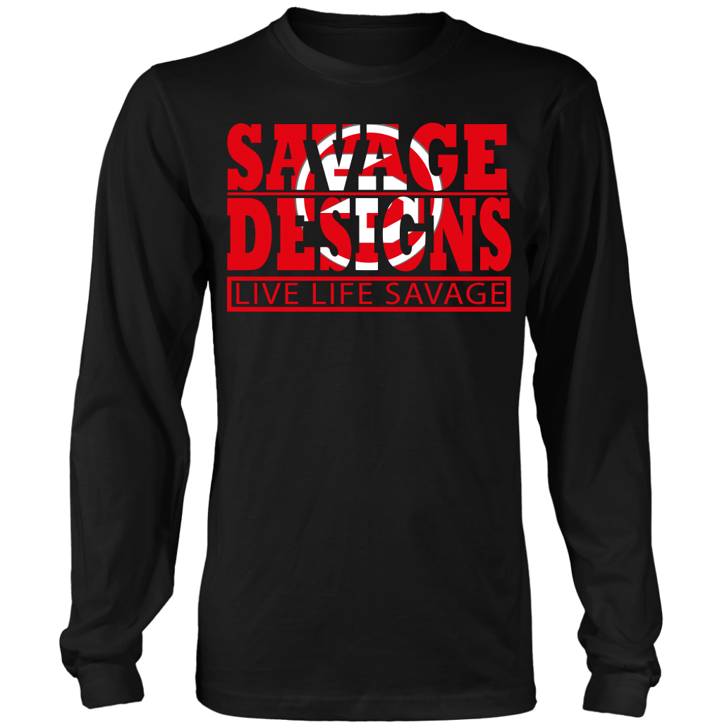 The Savage Within Red/White Long Sleeve- 9 Colors