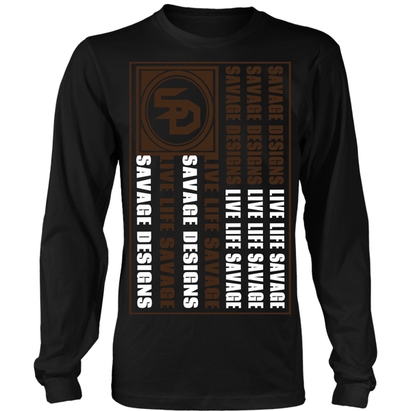 Savage Designs Flag Brown/White Long Sleeve- 5 Colors