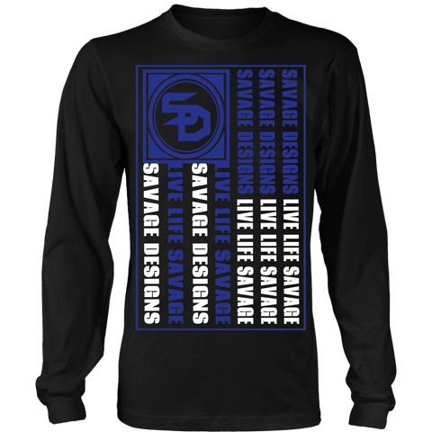 Savage Designs Flag Royal Blue/White Long Sleeve- 7 Colors