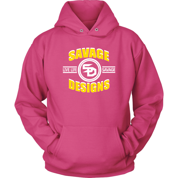 Savage Designs Dead Focus Yellow/White Hoodie- 11 Colors