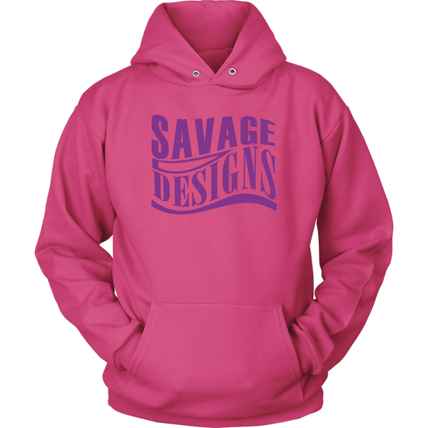 Savage Designs Warped Curve Purple Hoodie- 9 Colors