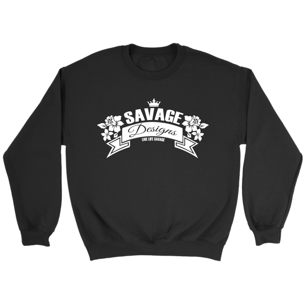 Savage Designs Royal Blossom White Sweatshirt- 8 Colors