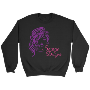 Savage Designs Women's Beauty Purple/Pink Sweatshirt- 3 Colors