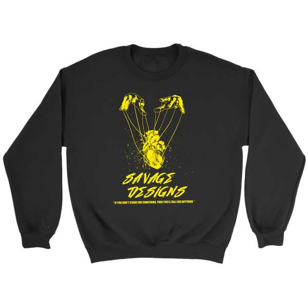 Savage Designs Heart Strings Yellow Sweatshirt- 8 Colors