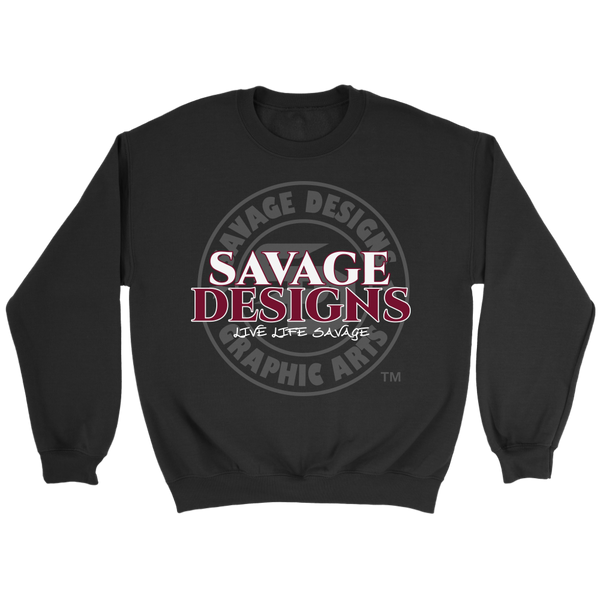 Savage Designs Faded Symbol White/Maroon/Grey Sweatshirt- 7 Colors