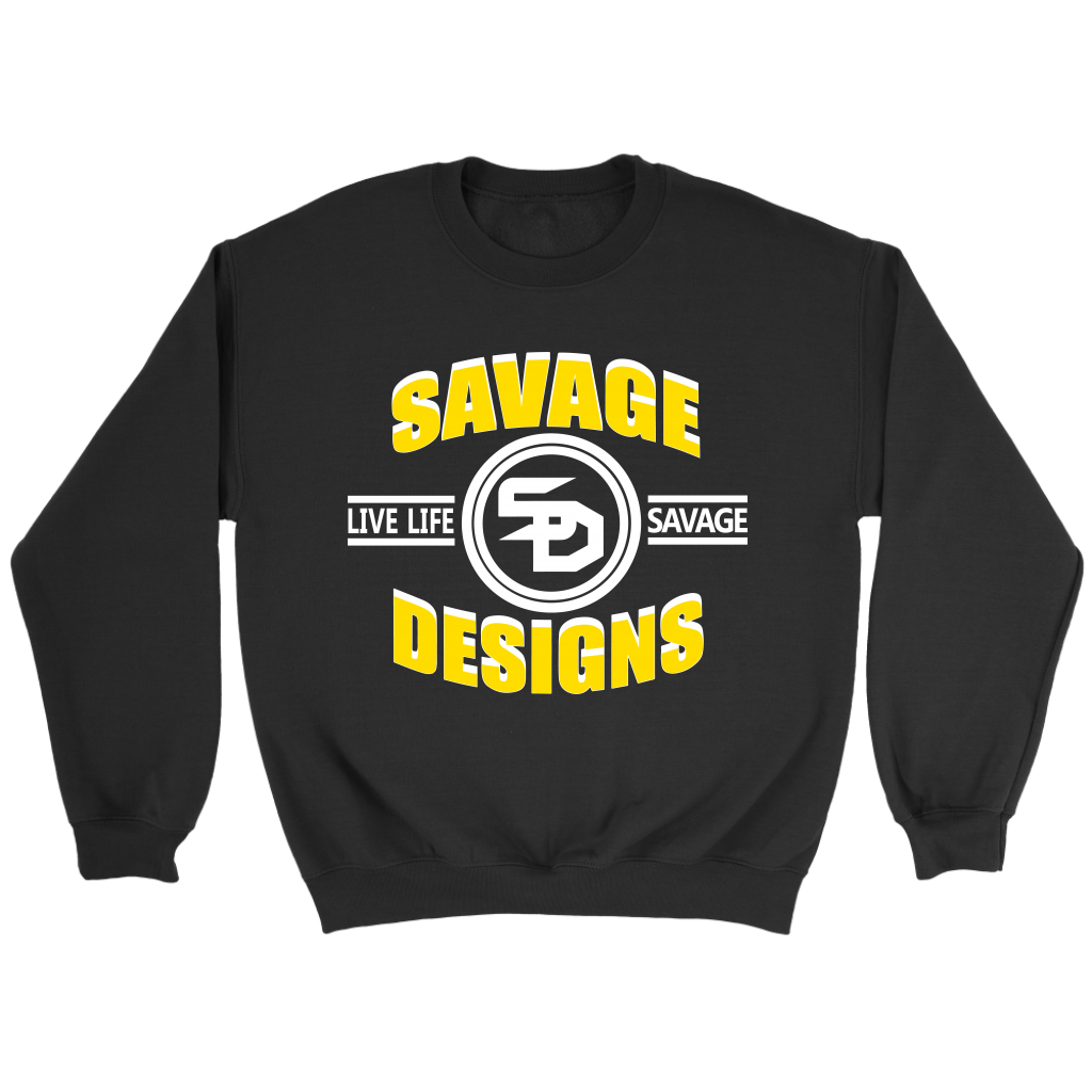 Savage Designs Dead Focus Yellow/White Sweatshirt- 8 Colors